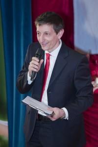 Il vicepresidente e presentatore Cristiano Magni